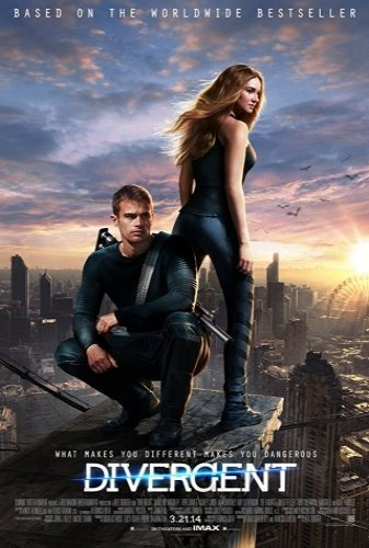 Divergent the movie poster