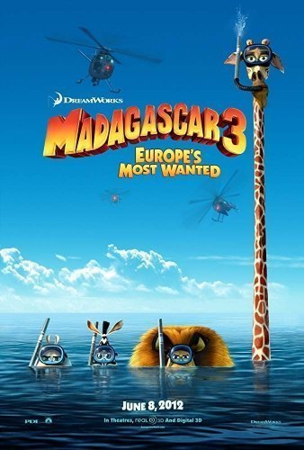 Madagascar 3 The Movie - Poster