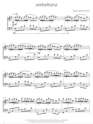 sheet music sample