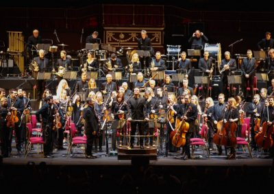 gavin greenaway conducts casino royale at royal albert hall