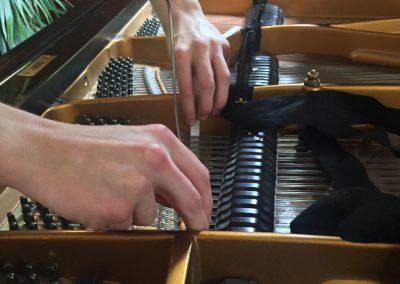 preparing piano